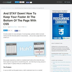 How To Keep The Footer At The Bottom of the Page with CSS
