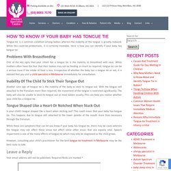 How To Know If Your Baby Has Tongue Tie