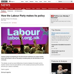 How the Labour Party makes its policy - BBC News