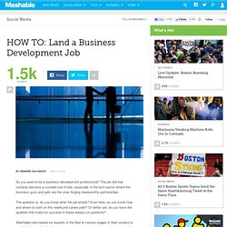 HOW TO: Land a Business Development Job
