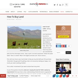 How To Buy Land - Frontier Properties USA