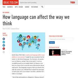 How language can affect the way we think