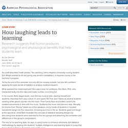 How laughing leads to learning