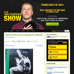 How to Learn Any Language in 3 Months