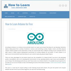 How to Learn Arduino for Free