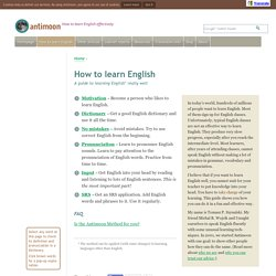 How to learn English