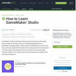 How to Learn GameMaker: Studio