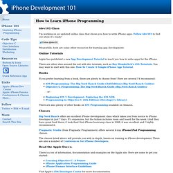 How to Learn iPhone Programming