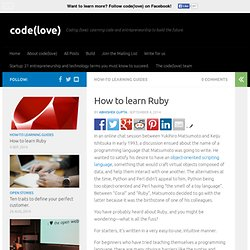 How and Where to Learn Ruby