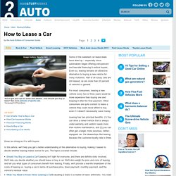 Leasing a Car Overview