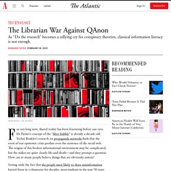How Librarians Can Fight QAnon