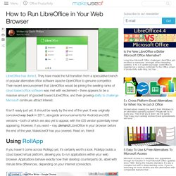 How to Run LibreOffice in Your Web Browser