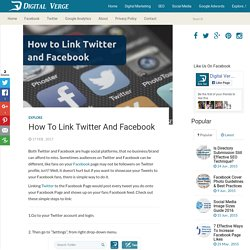 How to Link Twitter and Facebook