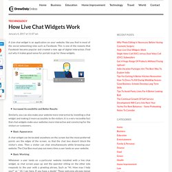 How Live Chat Widgets Work