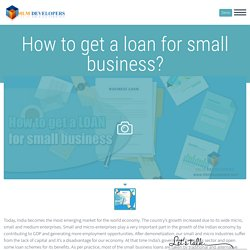 How to get a Loan for small Business? Apply Business Loan