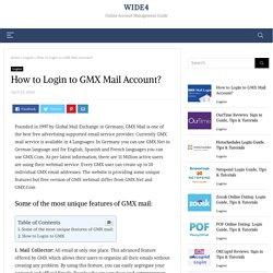 How to Login to GMX Mail Account?