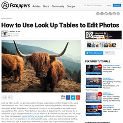 How to Use Look Up Tables to Edit Photos