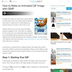 How To Make Animated GIF Images