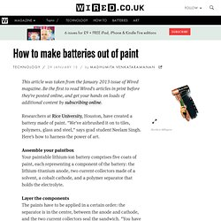How to make batteries out of paint