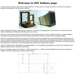 How to make Bellows