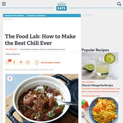 How to Make the Best Chili Ever