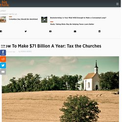 If churches are openly political, why are they not paying taxes?