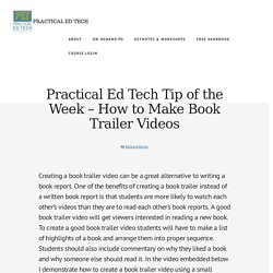 How to Make Book Trailer Videos