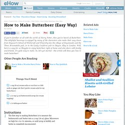 How to Make Butterbeer (Easy Way)