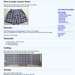 How to make classic boxer