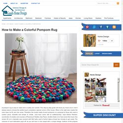 Colorful Pompom Rug