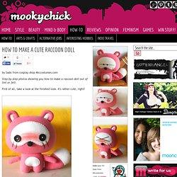 How to Make a Cute Raccoon Doll