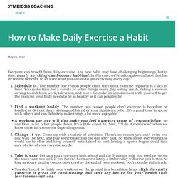 How to Make Daily Exercise a Habit