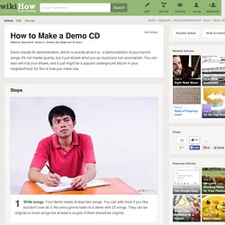Make a Demo CD