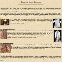 How to Make an Elizabethan Chemise