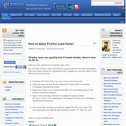 How to Make Firefox Load Faster