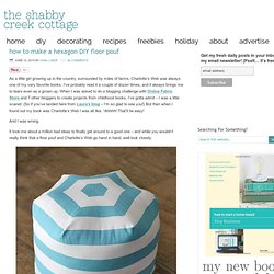 how to make a hexagon DIY floor pouf