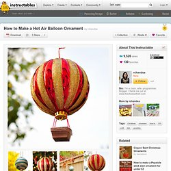 How to Make a Hot Air Balloon Ornament