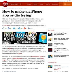 How to make an iPhone app or die trying