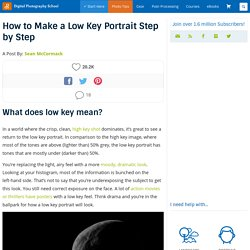 How to Make a Low Key Portrait Step by Step