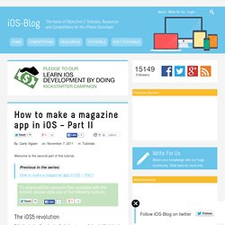 How to make a magazine app in iOS – Part II