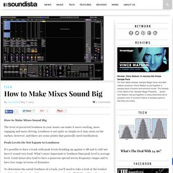 How to Make Mixes Sound Big | Soundista