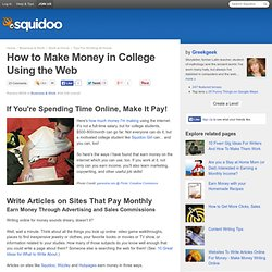 How to Make Money in College Using the Web
