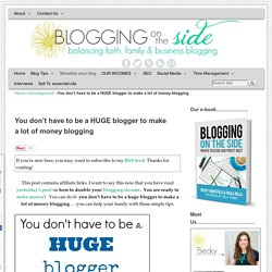 how to make money with a new blog