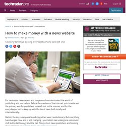 How to make money with a news website