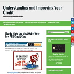 Low apr credit cards for bad credit