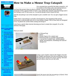 How to Make a Mouse Trap Catapult
