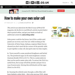 Diy solar systems pearltrees for Make your own solar panels with soda cans