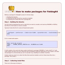 How to make packages for Fatdog64