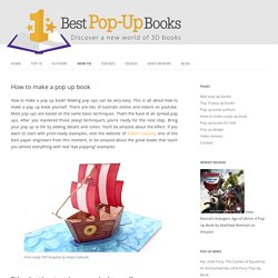 How to make a pop up book - DIY pop-ups and tutorials