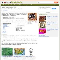 Puzzle Piece Frame Craft